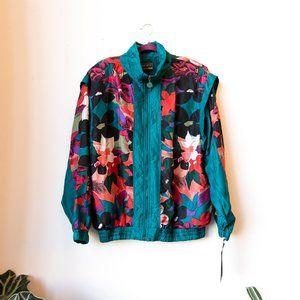 NWT Vintage Neon Silk Jacket